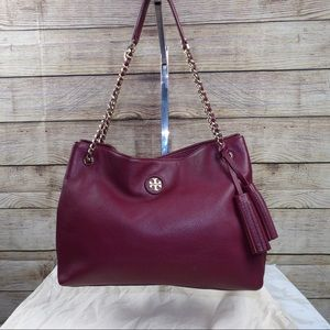 Tory Burch Whip stitched logo tote